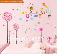 "Free Express 79""x79"" (200x200cm) Nursery Decor 1set=AY989+AY7024 Cute Photo Frame Tree Wall Sticker Large SGS Removable Mixable"