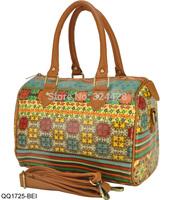 New Arrival Women Handbag Floral Printing Oilcloth Tote Handbags Fashion Shoulder Bags Free Shipping QQ1725