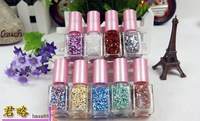 DIY Pro-environment  Glitter  Snowflakes  Nail Polish Mixed Colors Tool 1321