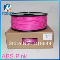 Pink color 3d printer filaments ABS 1.75mm 1kg  Material MakerBot/RepRap/UP/Mendel