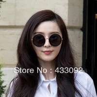 2014 Fashion Vintage Big Circle Men / Women Sunglasses Star Style Sun Glasses  Luxury Brand Big Sunglasses Brand Designer