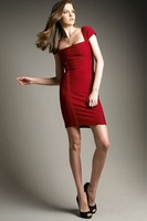 Free shipping Women's Bandage pencil Dress Celebrity half sleeve Cocktail Party Evening DressesHL 2195