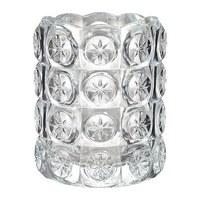 2 pieces/lot 8x7cm glass stick candle tealight holder.