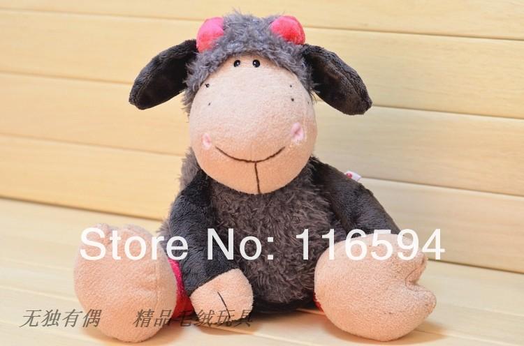 free shipping 75cm NICI sheep cute LUCY sheep Plush toys Jolly Mah lamb in gray skirt(China (Mainland))