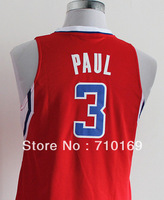 Free Shipping  kids  #3 Chris Paul   red white youth  Basketball jerseys mix order
