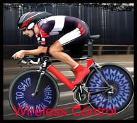 Wireless Custom Message Bike Wheel Light 30 LED Update Version DIY Bike Led Light Free Shipping