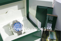 Free Shipping Luxury  Blue water ghost  steel  watch diameter 40mm men's mechanical watches