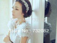 1pcs/lot Boutique Stylish Women Lady Girls Fashion Elegent Lace Rhinestone hairbands headband E3289-white