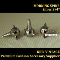 "100pc  MORNING Spike Screwback Spike Rock DIY Stud 3/4""Silver  + Free Shipping"