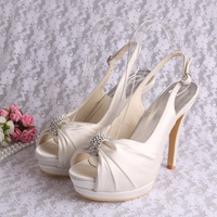 Stylish Sandals Latest Party Shoes Platform Rhinestones Wedding Shoe I Do Free Shipping