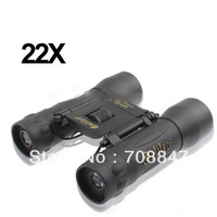 22 x 32mm Black Coated Telescope Binoculars with Neck Strap