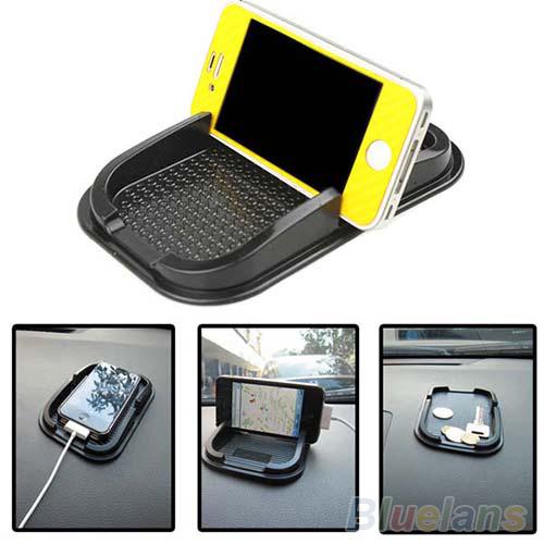 Black Car Dashboard Sticky Pad Mat Anti Non Slip Gadget Mobile Phone GPS Holder Interior Items Accessories(China (Mainla