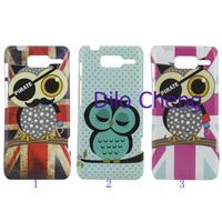 RAZR D3 case ,High quality owl bird pattern soft tpu back cover for Motorola RAZR D3 XT920 XT919,1pc by china post