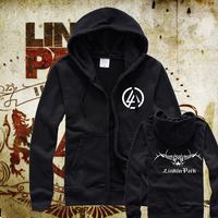 Hot-selling lp linkin park fleece zipper sweatshirt