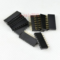 50PCS 2.54mm Pitch 8 Pin Female Single Row Straight Header PCB DIY Connector G12