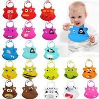 Hot Sale20pcs/Lot,Wholesale!Silicone Baby Bibs,33Current Animal Designs Silicone Bibs Fashion,Waterproof Cartoon Print Kids Bibs