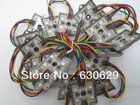 Free shipping LED MODULES Iron shell 35*35 5050RGB super lumen 500pcs a bag for adversider molding
