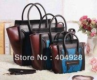 3307 3308 3309  BLUE snake original leather bag smile fashion  women handbag top quality  Micro nano mini