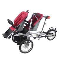 FREE SHIPPING TO RUSSIA Integrated Folding Parents Baby Taga Bike Stroller 16inch  mother stroller bike  pushing triwheel bike