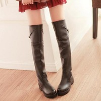 2013 autumn and winter boots female over-the-knee 25pt platform boots fashion high-leg