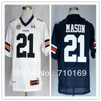 Free Shipping Auburn Tigers Tre Mason 21 NCAA Football Authentic Jerseys - Navy Blue  White  mix order