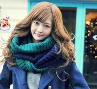 Wholesale - MIC 10pcs Fashion Color Clock Girl Womens Winter Knit Infinity Circle Scarf Wrap Scarves 60cm x 28cm
