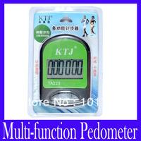 Free shipping TA223 large extra LCD display multi-function pedometer ,2pcs/lot