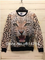 Printing three-dimensional creative personality patterns 3d animal lovers 3D clothes men sweater tide