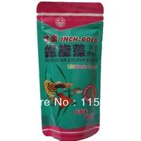 spirulina colour added fish food tropical aquarium small guppy  fish food with VitaminA C D3 E