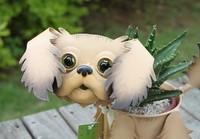 Iron pet dog flower pot small LUNA