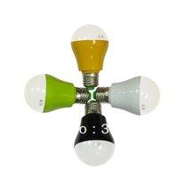 New Product Big Promotion Free Shipping Wholesale 100pcs/lot 3w 4w LED Bulb Lamp E27 White Black Green Yellow Housing LED Globe