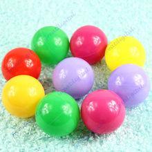 50pcs / lot colorido Bola envio Fun bola de plástico macio Oceano Bola Bebê Kid Toy Swim Pit Toy grátis(China (Mainland))