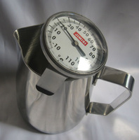 12 oz Stainless Steel Milk Pitcher & Milk Frothing Thermometer set for US customers