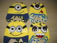 crochet hat beanie minions custom helmet beanie hat
