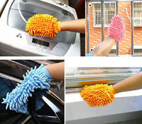 3 PCS Super Mitt Microfiber Fiber Car Wash Washing Cleaning Glove Cloth Towel