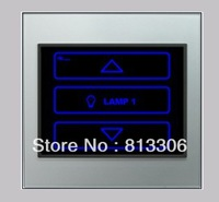 free shipping 1 gang dimmer panel  Incandescence lamp 200W Remote control synthetic glass material dimmer panel switch