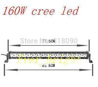 31INCH 160W CREE LED work LIGHT BAR LED DRIVING LIGHT spot IP68 FOR OFFROAD MARINE BOAT CAMPING 4x4 ATV UTV USE