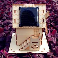 Solar windmill model birthday gifts desktop decoration