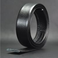 Men belts 2014 New Formal Designer Cowskin Leather belts without buckle 115cm/120cm/125cm/130cm/135cm