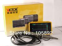 "Free shipping VICTOR High Quality 3"" LCD Mini Digital Oscilloscope Pocket Handheld Oscilloscope 2CH 72MS/s 10MHZ"