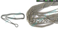 Wholesale Free Shipping 50pcs/LOT 2.4mm 35inch 90cm Stainless Steel Ball Beads Necklace Chain Stainless shining cool