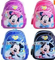 Free Shipping Kids Minnie Party Bags Girl Boy Cartoon School Bag Bookbag Leisure Satchel Mochila,Children Mickey Mouse Backpacks