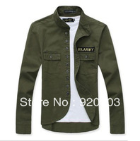 2013 fashion men's slim fit jacket,US ARMY Decorative coat of arms,men's shirt 6 COLOR 4SIZE W234