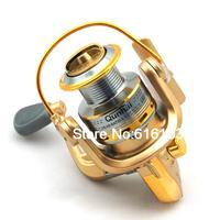 ST 4000 5.1 1 Gear Ratio 6 Ball Bearings Spinning Spool Reel Roller Gold