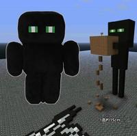 13.8'' Black doll Minecraft Creeper Enderman Plush Doll Toy Black
