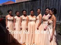 Hot Sale Empire Waist Long Floor-length Chiffon 2014 Bridesmaid Dress(asa003)