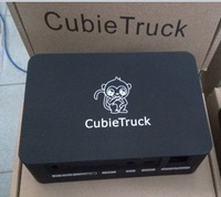 black new case for cubietruck +Free shipping