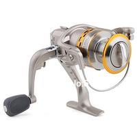 SG 4000 5.1 1 Gear Ratio 6 Ball Bearings Spinning Spool Reel Roller Silver + Gold