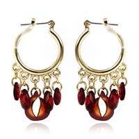 Free shipping 2014 New Cheap Fashion Alloy Gold Plated Earrings For Women Long Drop Earrings Wholesale