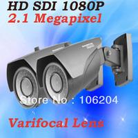 Full HD SDI 1080P 2.0 Megapixel Analog CCTV Camera outdoor Waterproof 40m night vision Varifocal Lens Bullet Camera